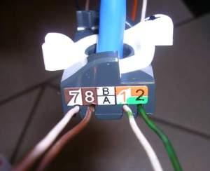 Tomada RJ45 - Colocação fios 1