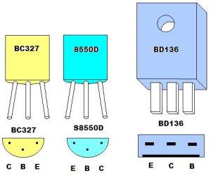 Pinagem dos transistores PNP