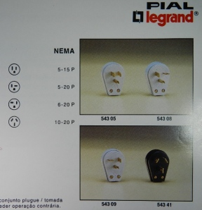 Figura 15 - Trecho do catálogo Pial de 1991 com plugues NEMA.