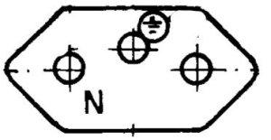 Figura 21 - Tomada NBR fêmea vista de frente – fonte:[21].