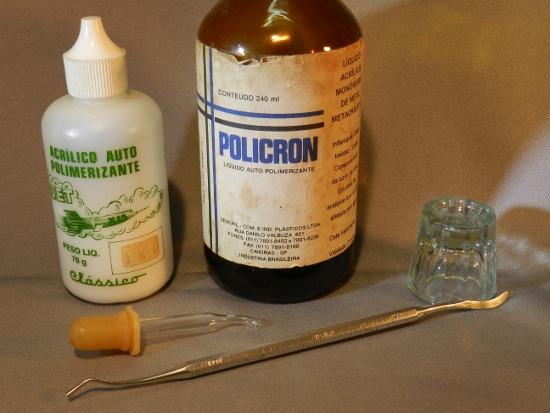 Figura 1 – Material necessário para trabalhar com resinas.