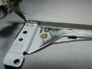 Figura 26 – Detalhe da parte inferior do braço, junto à dobradiça.