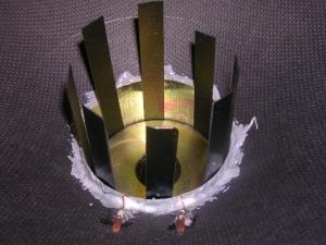 Figura 38 – Recolocação das tiras plásticas para alinhamento final.