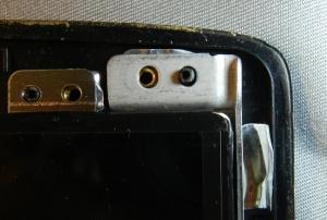 Figura 8 – Canto superior direito do painel substituto, inserido no suporte.
