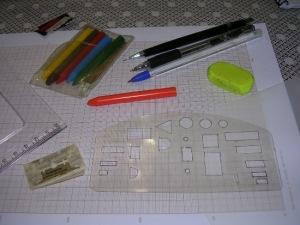 Figura 1 – Material utilizado para projetar placas de circuito impressos simples.