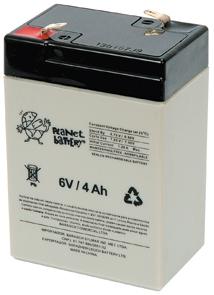 Figura 10 – Bateria de 6V e 4 Ah, de fabricante nacional.