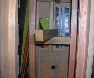 Figura 15 – Vista das ripas que ficam cruzadas no centro da caixa.