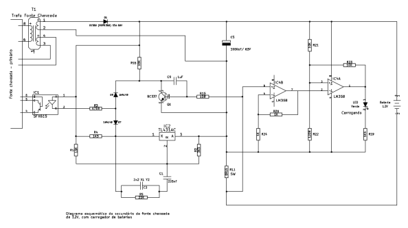 Figura 2 – Esquema do estágio secundário do carregador.