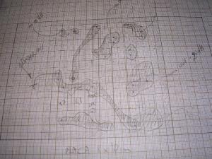 Figura 2 – Desenho da placa no papel milimetrado.