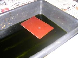 Figura 25 – Placa posicionada para corrosão.