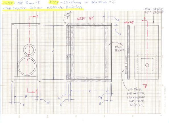 Figura 29 - Projeto das caixas.