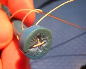 Figura 5 – Passagem da cordinha.
