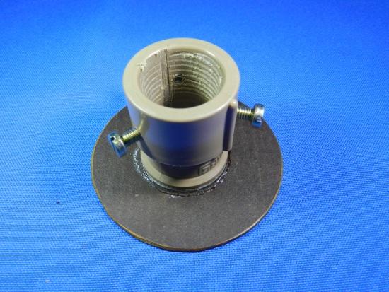 Figura 5 – Vista do eixo interno da peça deslizante, onde se nota a fenda para passagem do barbante.