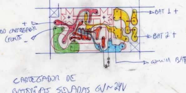 Figura 7 – Projeto da placa de circuito impresso em poliéster, visto pelo lado dos componentes.