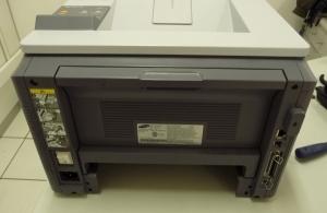 Figura 11 - Vista posterior da impressora, ainda com o painel traseiro.