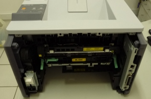 Figura 12 – Vista posterior da impressora, sem o painel traseiro.