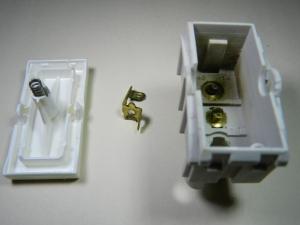 Figura 2 – Interruptor de embutir desmontado.