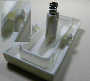 Figura 4 – Tecla consertada, como se vê no detalhe.