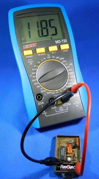 Figura 15 – Teste da pilha do controle remoto, sem carga.