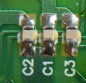 Figura 17 – Placa de controle remoto com capacitores SMD.