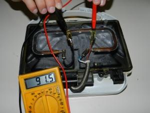 Figura 21 – Medição da resistência total das chapas: 91,5 ohm.