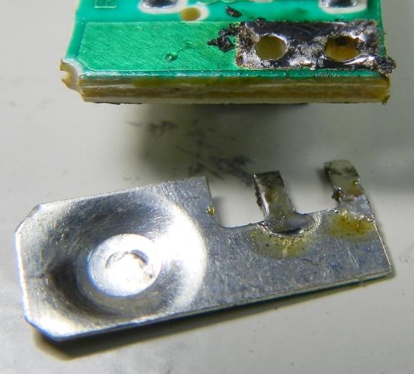 Figura 8 – Placa de contato já estanhada e limpa.