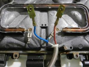 Figura 9 – Conexões da rede elétrica e vista da chapa inferior.