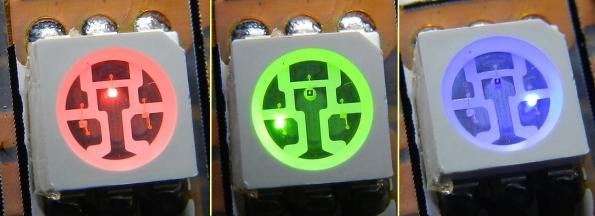 Figura 10– Led RGB, com uma cor acionada por vez.