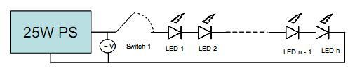 Figura 23 – Circuito hipotético de acionamento de LEDs. Fonte: Philips [22].