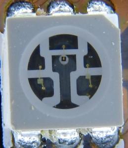Figura 3 – Led RGB, modelo 5050, em detalhe.
