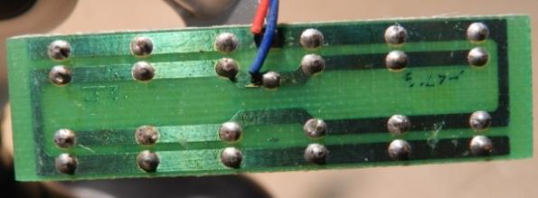 Figura 34 – Placa de circuito impresso com os LEDs.