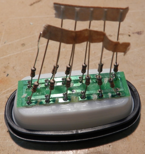 Figura 38 – Soldagem dos resistores I.