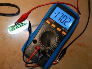 Figura 42 – Medição da corrente dos LEDs.