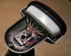 Figura 47 – Montagem dos LEDs no compartimento.