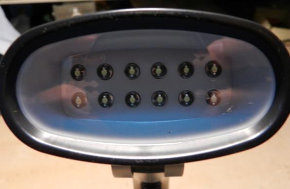 Figura 48 – Aparência frontal da luminária.