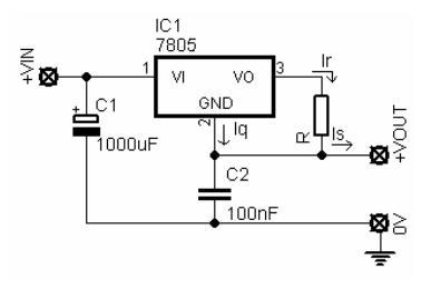 Figura 53 – Fonte de corrente com 78xx, até 1A. Fonte: Newpic [29].