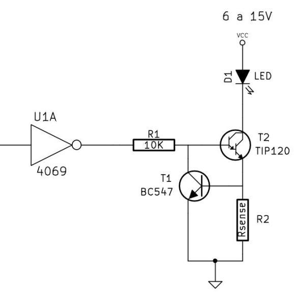 Figura 58 – Possibilidade de controle da fonte de corrente por interface digital.