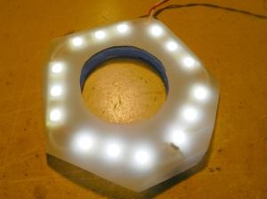 Figura 1 – Anel de iluminação pronto para uso.