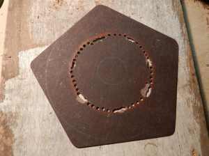 Figura 17 – Moldagem da placa de fenolite I.