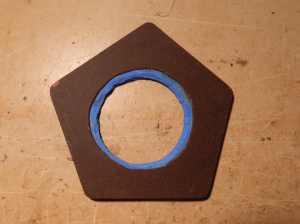 Figura 21 - Moldagem da placa de fenolite V.