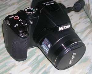 Figura 5 – Aparência da lente da Nikon P500.