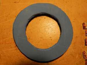 Figura 6 – Placa de EVA cortada, pronta para montagem.