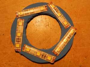 Figura 8 – Segmentos colados ao EVA.