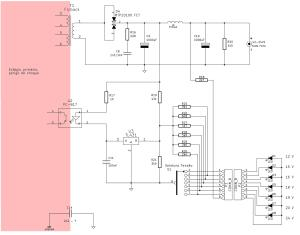 Figura 17 – Esquema do secundário de fonte chaveada multitensões.