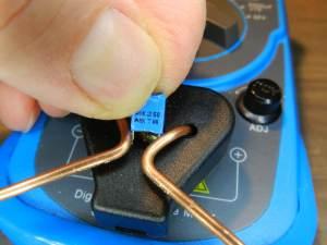Figura 13 – Medição de pequenos capacitores.