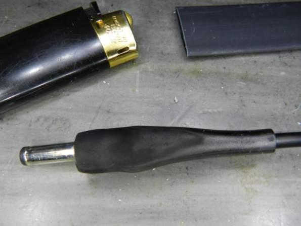 Figura 21 – Colocação do primeiro espaguete termo retrátil.