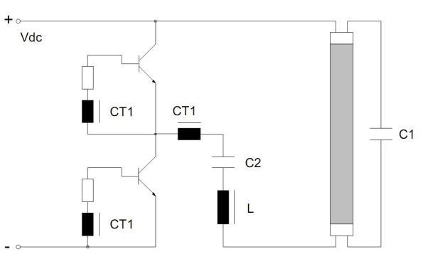 Figura 12 – Variação do inversor meia ponte alimentado por tensão. Fonte: Philips [1].