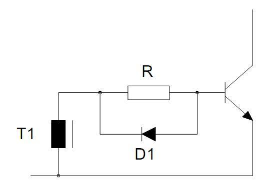 Figura 14 – Circuito simples de polarização de base. Fonte: Philips [1].