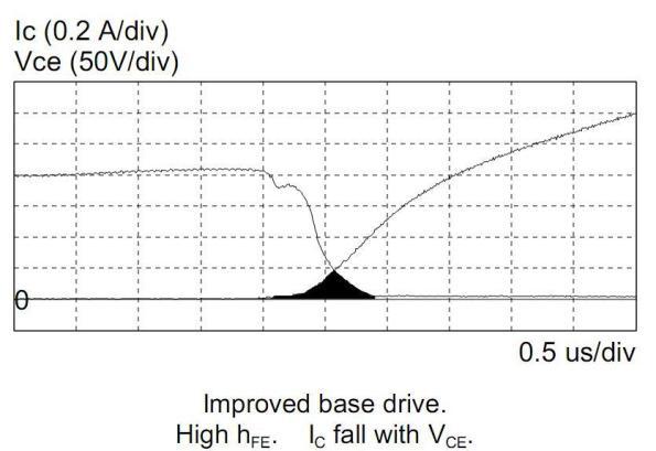 Figura 19 – Curvas Vce e Ic, do circuito melhorado de polarização de base, com transistor de alto hfe. Fonte: Philips [1].