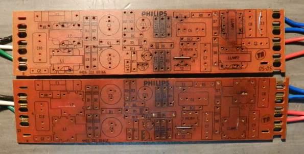 Figura 51 – Placas de reatores Philips.